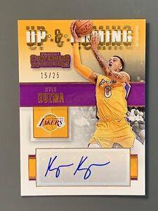 2017 Panini Contenders Up & Coming Kyle Kuzma RC Auto SP / 25 LA Lakers