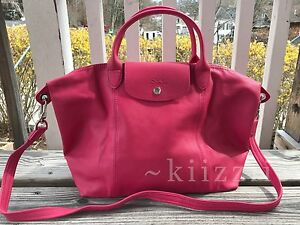 60d7c6435788 NEW w dustbag Longchamp Le Pliage Cuir Leather Tote Pink Medium ...