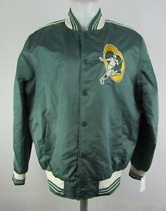 Green-Bay-Packers-NFL-Starter-Men-039-s-Snap-Up-Varsity-Jacket