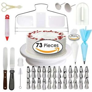 Details about Cake Decorating Supplies - Professional Cupcake Decorating  Kit | Baking Supplies