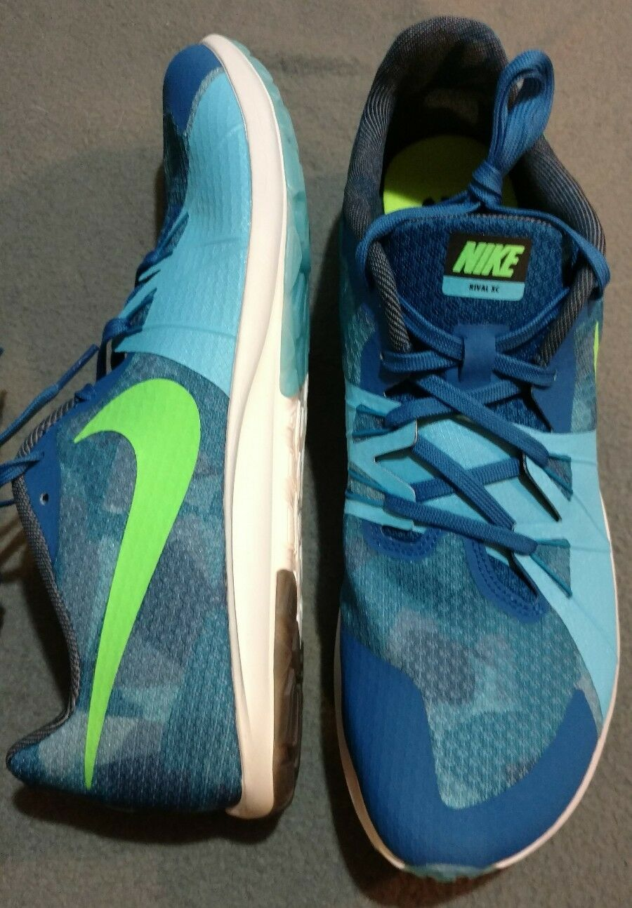 NIKE ZOOM RIVAL XC TRACK SHOE Unisex Blue Jay / Green Comfortable Great discount