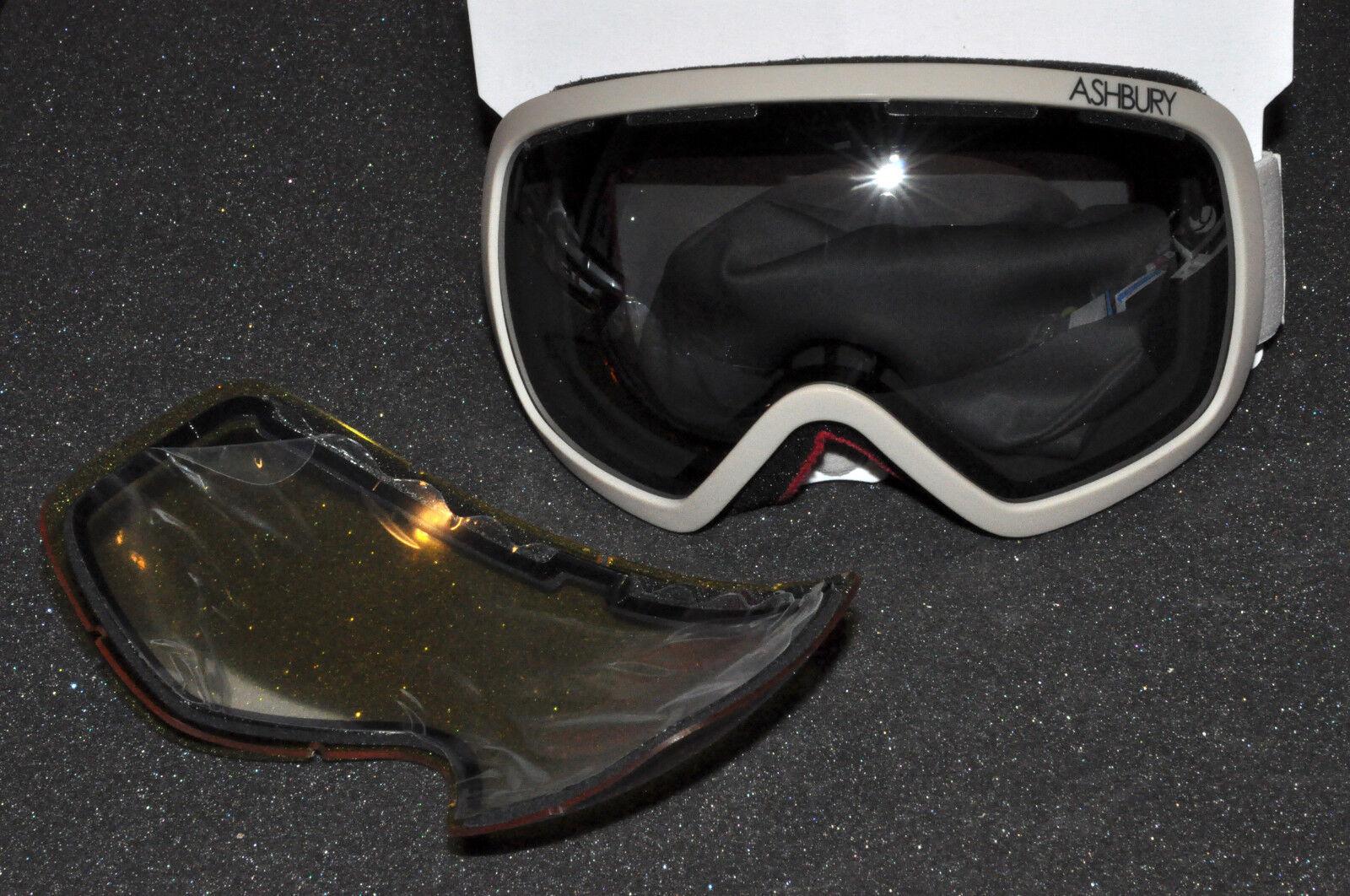 ASHBURY Bullet Khaki  - hand made - Snowboard Schneebrille Skibrille NEU