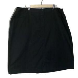 Lady Edwards Womens A Line Skirt Black Above Knee Slit Work Career Cocktail 22W