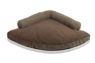 "X-Large 40""X61""X40"" Coffee/Coffee Dog Cat Corner Bed"