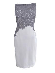 Lauren-by-Ralph-Lauren-Women-039-s-Zinna-Lace-Crepe-Sheath-Dress
