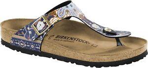 Details about Birkenstock Gizeh 36 37 normal ANCIENT Mosaic Blue Toe Separators 1009804 NEW show original title