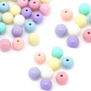 280-Random-Pastel-Acrylic-Spacer-Beads-Round-8mm-Hole-1-6mm