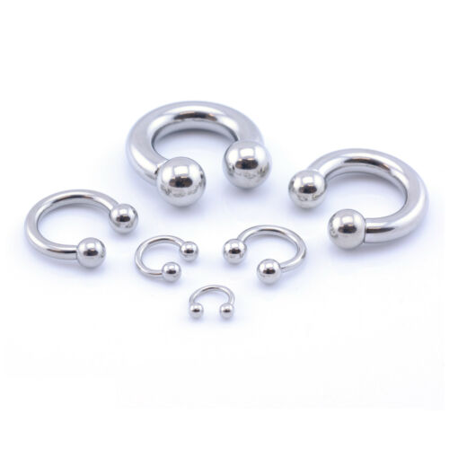Horseshoe Bar Circular Barbell Lip Nose Septum Ear Ring Various Sizes available