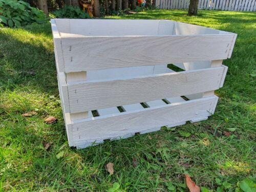 Set neue Weisse stabile Kisten Massive Holzkisten Weinkisten TOP WEISS