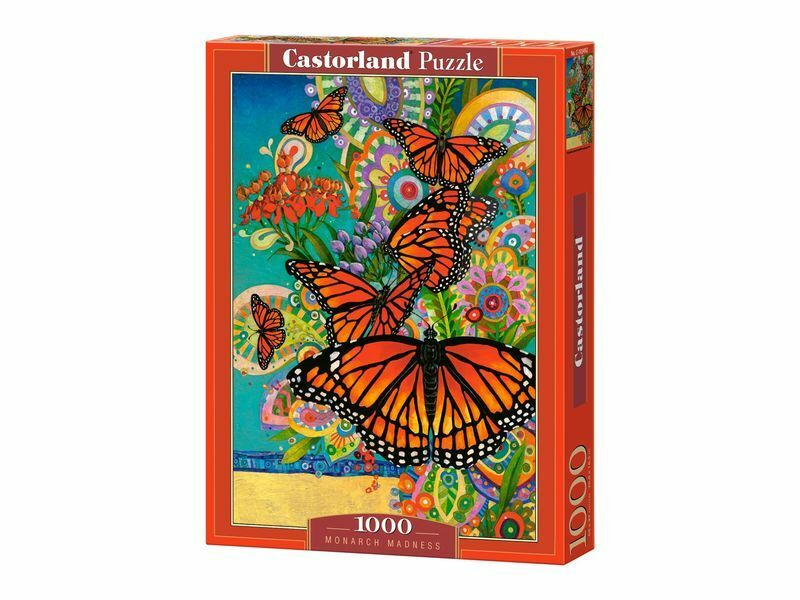 Castorland Puzzle 1000 Pieces - Monarch Madness - 27 x18.5  Sealed box C-103492