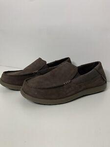 Crocs-Men-Size-8-Slip-On-Casual-Loafer-Shoes-Brown-202221