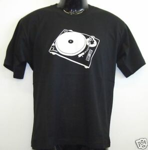 Fun-T-Shirt-Turntable-Scratch-Schwarz-S-XXL