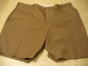 Clipper  Size 46  light brown flat front casual shorts