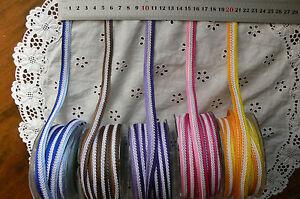 Fancy-Striped-Mesh-Ribbon-12mm-Wide-3-Metre-Length-5-Colour-Combo-Choice-QK-H14