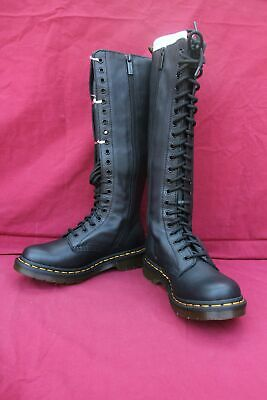 DR MARTENS 1B60 Virginia 23889001 Longues Bottes à lacets Black 40 FR 7 UK | eBay