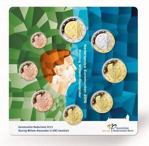 NEDERLAND-UNC-SET-EUROMUNTEN-KONING-WILLEM-ALEXANDER-2015-IN-LUXE-VERPAKKING