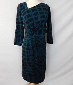 ETCETERA-ASSYMETRIC-STRETCH-JERSEY-SHEATH-DRESS-sizes-2-4-6-12-NEW-235