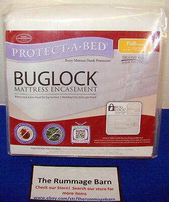 Buglock Bed Bug Mattress Cover Encasement Zippered Full Size Double 844928001875 Ebay