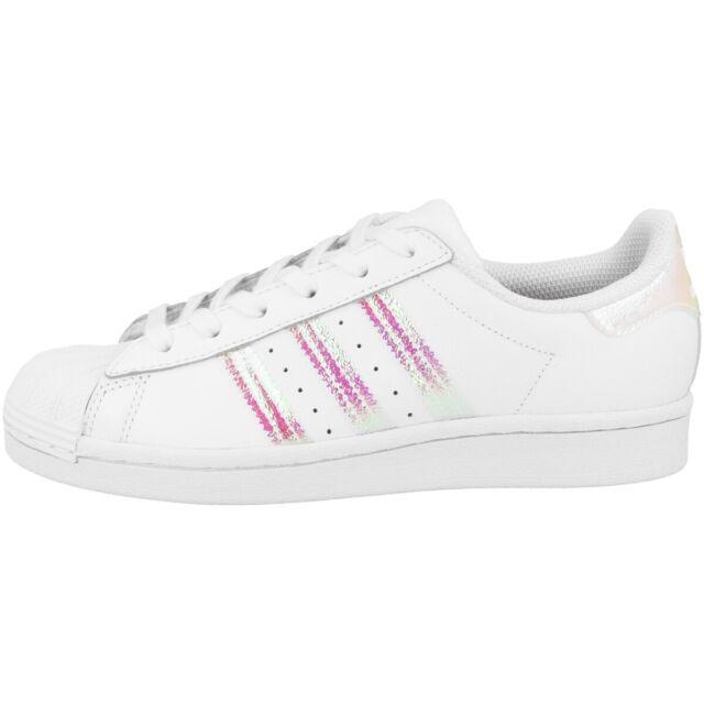Adidas Superstar J Chaussures Femmes Enfants Baskets Loisirs Blanc FV3139