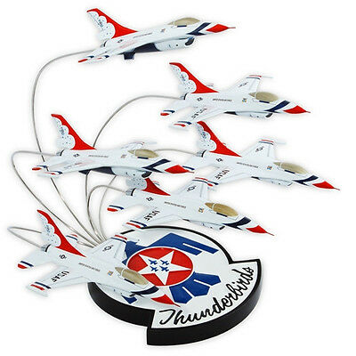 USAF F-16 Thunderbirds In Formation Desk Top Display 1/72 Six Model ES Airplanes
