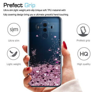 online retailer e41ca 0ddc2 Details about For Huawei Honor 8 9 Lite 10 Lite Case Glitter Liquid  Quicksand Clear Soft Cover