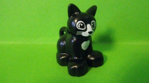 LEGO Duplo Bauernhof Katze,Schwarz NEU Unbespielt