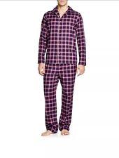 New HUGO BOSS Men Checked Red Pajama Set Lounge Gift Box M Or S $259