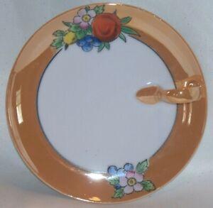 Vintage Porcelain Noritake Floral Lusterware Lemon Tray With Handle