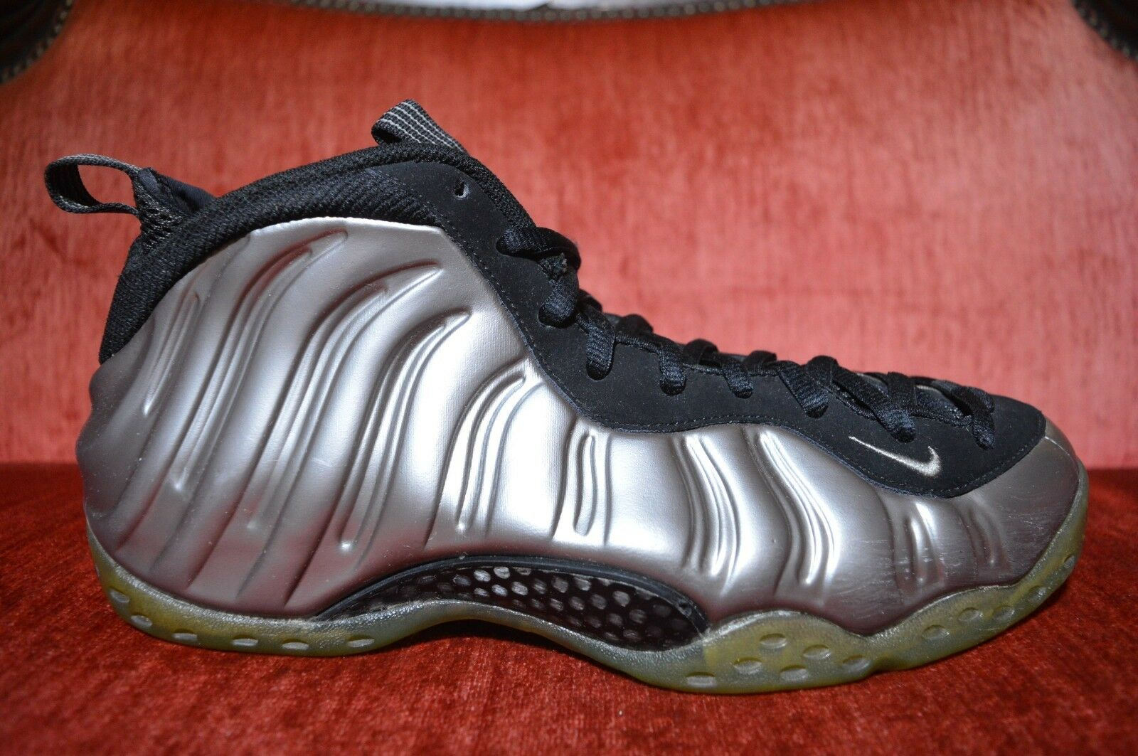Nike Air Foamposite One 1 Metallic Pewter Black Pewter Men Silver Pro Size 10.5