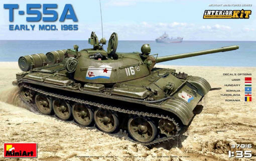 Miniart 37016 1 35th scale T-55A Soviet Tank Mod.1965 with Interior
