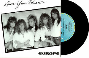 EUROPE-OPEN-YOUR-HEART-TOWER-039-S-CALLIN-039-PROMO-7-034-45-VINYL-RECORD-PICSLV-1988