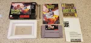 Thunder-Spirits-Super-Nintendo-SNES-Video-Game-CIB-Complete-lot-Shump-TESTED
