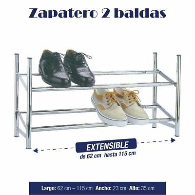 Zapatero 2 baldas metalico