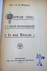 PIENZA-I-SUOI-MONUMENTI-E-LA-DIOCESI-1915-Antico-Libro-G-B-MANNUCCI-Siena