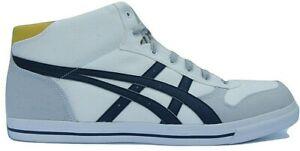 prix d'usine 8bc47 12928 Details about Mens asics Aaron MT White Canvas Casual Mid Trainers Shoes  Size UK 13 Eur 49