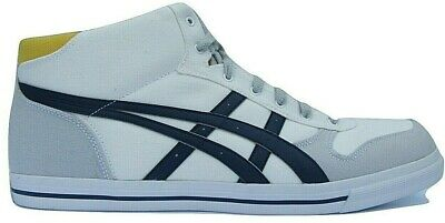 premium selection cd400 6bcda Mens asics Aaron MT White Canvas Casual Mid Trainers Shoes Size UK 13 Eur  49   eBay