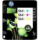 HP #564XL Ink Genuine Cartridge Color Set C / M / Y 3-Pack For PhotoSmart C5300