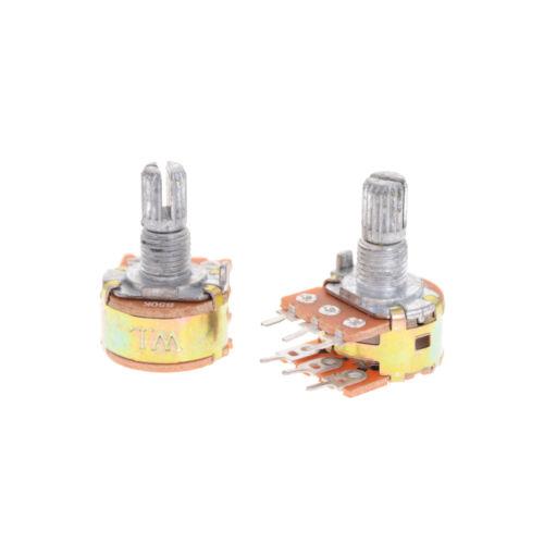 5pcs Dual Stereo Potentiometer Pot WH148 50K Ohm R Linear Shaft 15mm 6Pin XF RH$