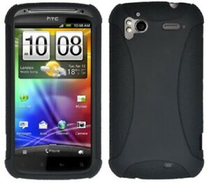 AMZER-Silicone-Soft-Skin-Jelly-Case-Cover-Fits-For-HTC-Sensation-XE-4G-Black