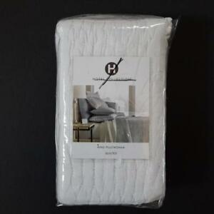 Hotel-Collection-White-Diamond-Stripe-Quilted-King-Pillowsham