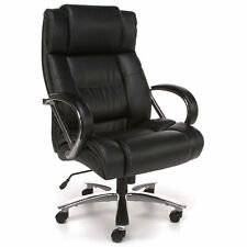 Ofm 810 Lx Avenger Series Big And Tall Executive High Back Chair Leather Black