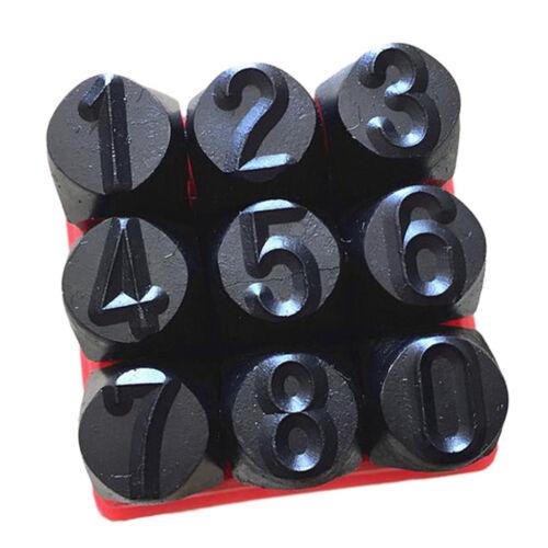 Metal 9pcs Number Punch Marking Stamping Tool Kit Set Hardened Steel 12.5mm