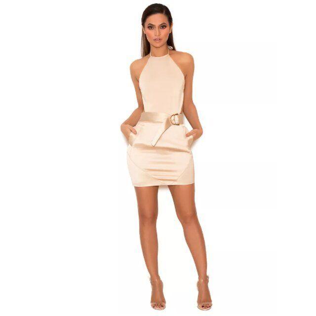 House CB Celeb Boutique of of of jasina oro Cinturino Caviglia Body Bambola Corpo Nudo Costume da bagno L cd99b4