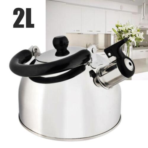 2L Edelstahl Wasserkessel Flötenkessel Teekessel Pfeifkessel für Küche Camping