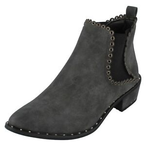 Down Earth Ladies Black Toe Ankle Boots To F5r0939 Pointed d7xPxO