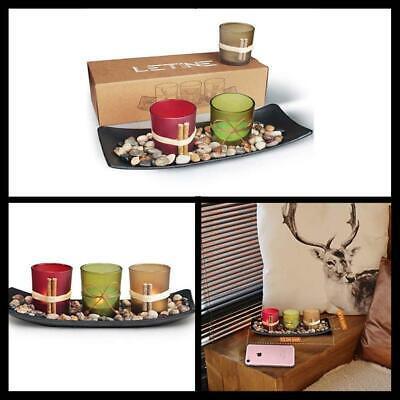 Candle Holders Set Living Room Table Bathroom Decor ...