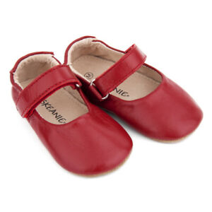 NEW-SKEANIE-Pre-Walker-Leather-Lady-Jane-Shoes-Red-0-to-2-years