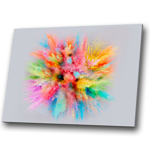 Colourful Dust Grey Pink Abstract Canvas Wall Art Large Picture Prints