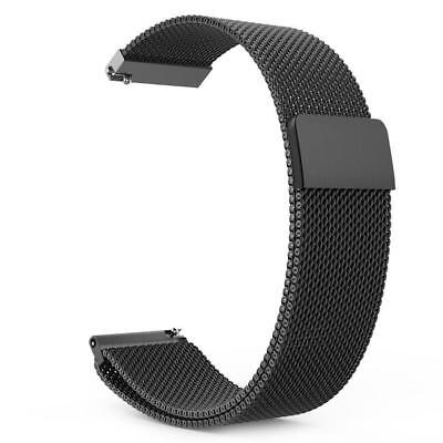 Stainless Steel Magnetic Loop watch band strap for Samsung Galaxy Watch 42 46mm