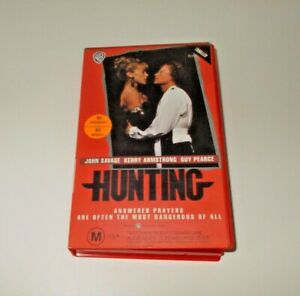 Hunting-VHS-Pal-1990-Guy-Pearce-Warner-case-Australian-movie-Frank-Howson
